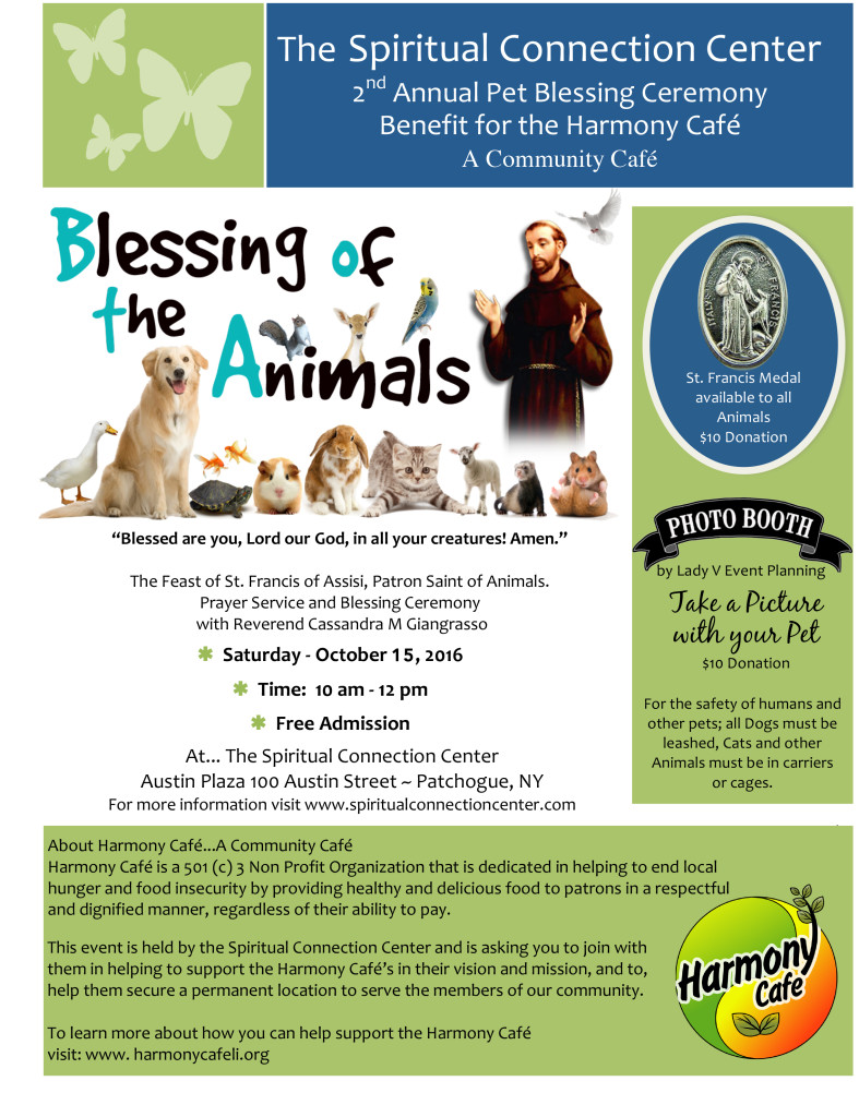 The Spiritual Connection Center   Blessings of the Animals